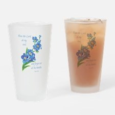 Forget Me Not Flowers with Scripture Drinking Glas
