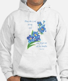 Forget Me Not Flowers with Scripture Hoodie Sweats