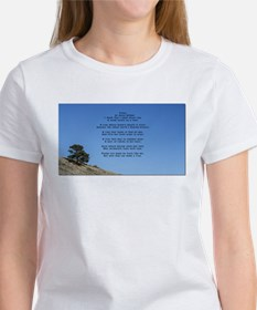 Tree on a hill with the famous poem Trees T-Shirt