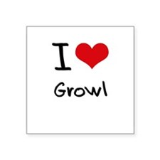 I Love Growl Sticker