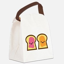 Peanut Butter Jelly Time Canvas Lunch Bag