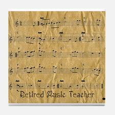 retired music teacher throw Tile Coaster