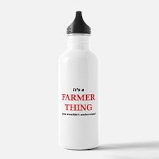 It's a Farmer thin Water Bottle