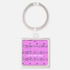 Retired Music Teacher All over PINK Keychains