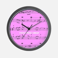Retired Music Teacher All over PINK Wall Clock