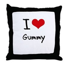 I Love Gummy Throw Pillow