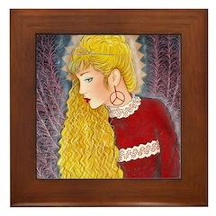 Peace Angel in Red Framed Tile