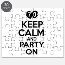 Keep calm 70 year old designs Puzzle