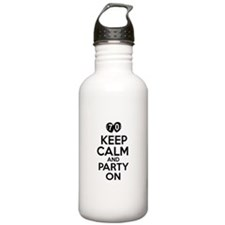 Keep calm 70 year old designs Sports Water Bottle