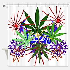 Marijuana Art Shower Curtain