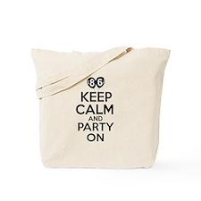 Keep calm 86 year old designs Tote Bag