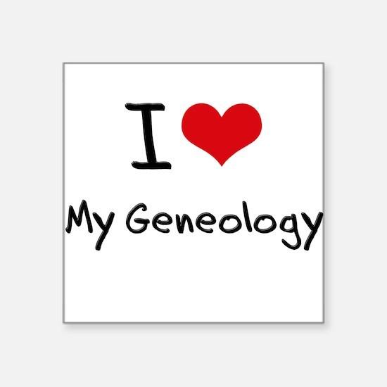 I Love My Geneology Sticker