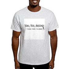 Veni, Vidi, Ascendi Ash Grey T-Shirt