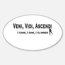 Veni, Vidi, Ascendi Oval Decal