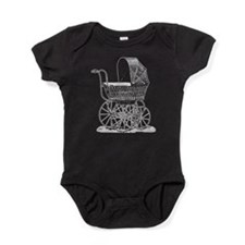 Victorian Baby Carriage Baby Bodysuit