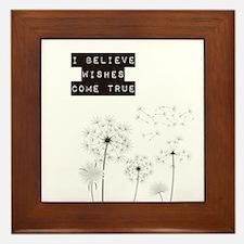 Believe in Wishes Dandelions Framed Tile