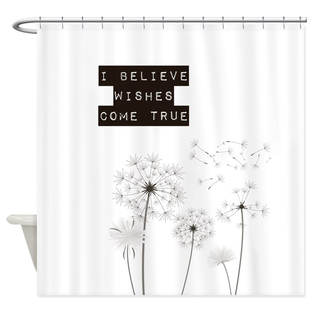 believe in wishes dandelions shower curtain by be inspired