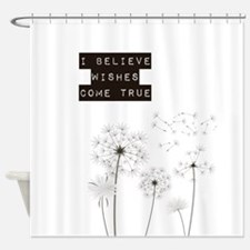 Believe in Wishes Dandelions Shower Curtain