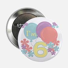 6th Pastel Birthday Button