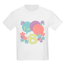 6th Pastel Birthday Kids T-Shirt