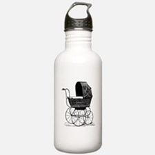 Victorian Baby Carriage Water Bottle