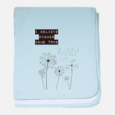 Believe in Wishes Dandelions baby blanket