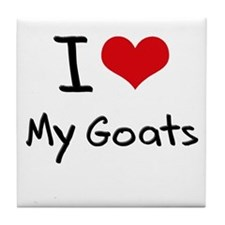 I Love My Goats Tile Coaster