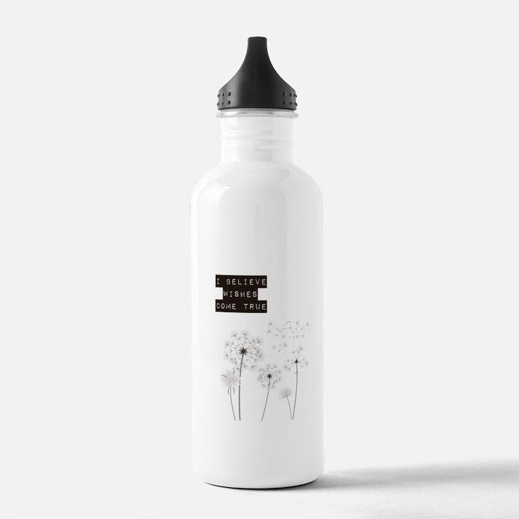 Believe in Wishes Dandelions Water Bottle