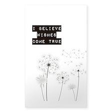 Believe in Wishes Dandelions Decal