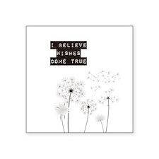 Believe in Wishes Dandelions Sticker