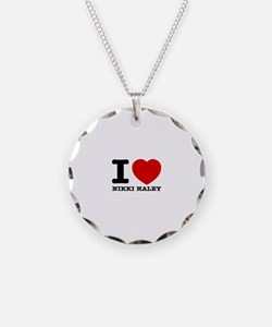 Political Designs Necklace Circle Charm