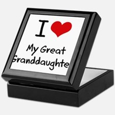 I Love My Great Granddaughter Keepsake Box