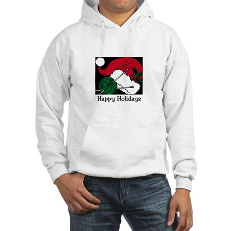 Knitters Happy Holidays Hooded Sweatshirt