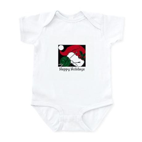 Knitters Happy Holidays Infant Bodysuit