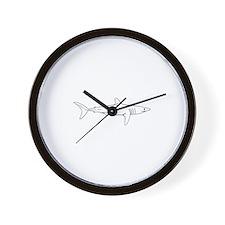 Shortfin Mako Logo Wall Clock