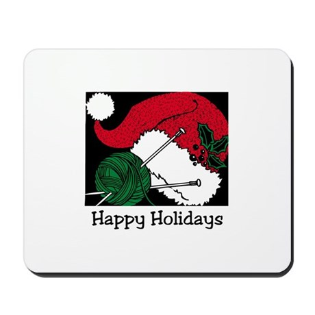 Knitters Happy Holidays Mousepad