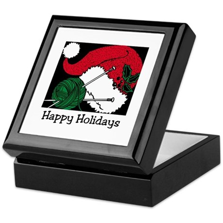 Knitters Happy Holidays Keepsake Box