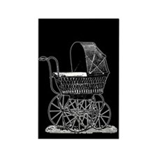 Victorian Baby Carriage Rectangle Magnet
