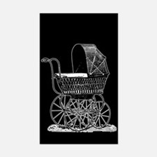 Victorian Baby Carriage Decal