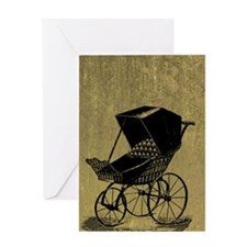 Gothic Baby Carriage Greeting Card