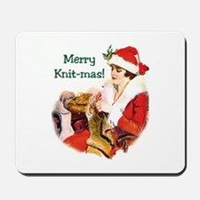 Knitters Christmas - Merry Knit-mas Mousepad