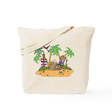 Tiki Alcohol island Tote Bag