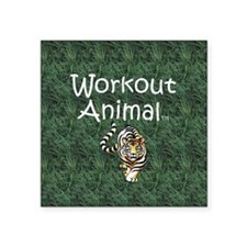"TOP Workout Animal Square Sticker 3"" x 3"""