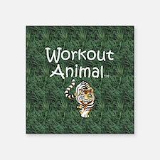 "Workout Animal Square Sticker 3"" x 3"""
