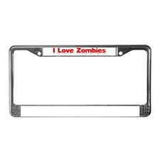 I Love Zombies License Plate Frame