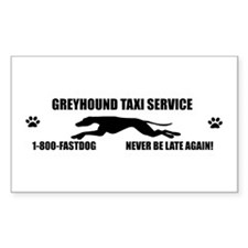 Greyhound taxi Rectangle Decal