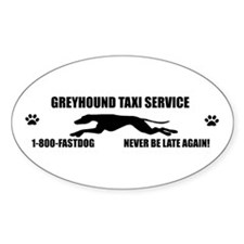 Greyhound taxi Oval Decal