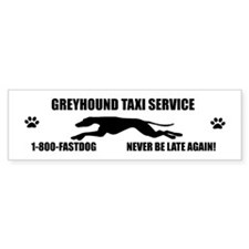 Greyhound taxi Bumper Bumper Sticker