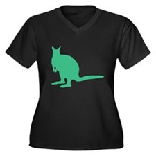 Green Wallaby. Plus Size T-Shirt
