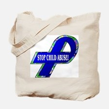 Child Abuse Awareness (2-Sided) Tote Bag